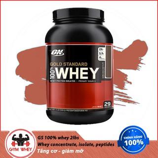 [Freeship] Sữa tăng cơ bắp ON Gold Stardard 100% Whey 2lbs (910gram) - Authentic 100% thumbnail