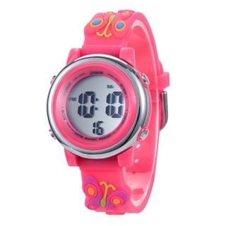 JNEW Đồng hồ điện tử dạ quang trẻ em, đồng hồ học sinh, đồng hồ điện tử đa năng thể thao ngoài trời thời trang led