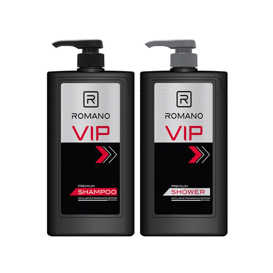 Combo Dầu gội Romano Vip 650ml +Sữa Tắm Romano Vip 650ml+Tặng 5 gói dầu gội Vip