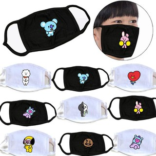 Chimmy Dog Cotton Cartoon Mask Motorcycle Unisex Kpop Face Masks