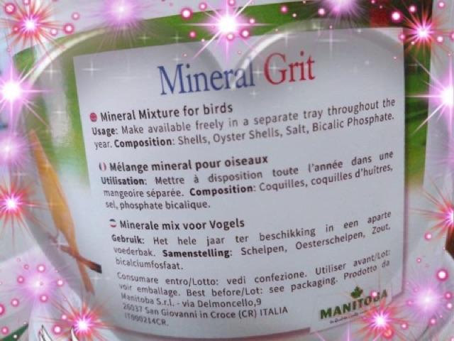 Khoáng MINERAL cho chim vẹt 15k/100g, 100k/kg