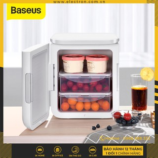 [Mã 229ELSALE hoàn 7% đơn 300K] Tủ lạnh mini Baseus Igloo Mini Fridge for Students (6L, 220V, làm mát và giữ ấm)