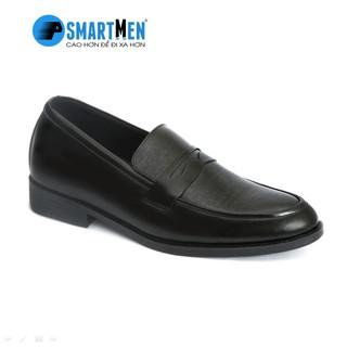 [Mã MABRSM50 hoàn 10% đơn 300K tối đa 50K xu] Giày lười công sở tăng chiều cao da bò SmartMen GL04 đen thumbnail