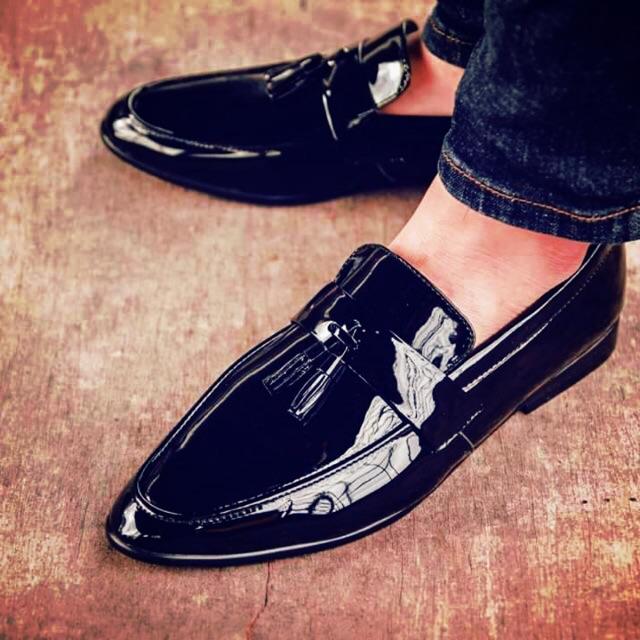 Giày tây dior da trơn không dây buộc