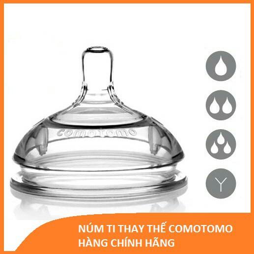 [SALE 50% có tách lẻ] Núm ti Comotomo 1-2-3 tia, Y-cut - Hàng chính hãng Mỹ siêu mềm