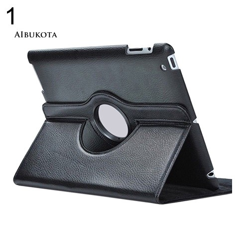 COD-360 Rotating Folio Stand Smart Faux Leather Case Cover for iPad 2 3 4