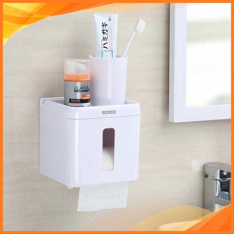Hộp đựng giấy vệ sinh ECOCO, không cần khoan tường 9231