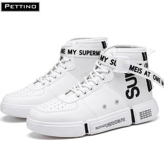 [Mã FAMALLT5 giảm 15% đơn 150K] Giày sneaker nam cổ cao cá tính chất đẹp PETTINO - SSTC01