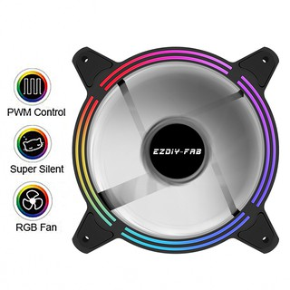 1 Bộ Quạt Tản Nhiệt 12cm Rgb Pwm 5v Argb 3 Pin M / B Sync – 1 Gói