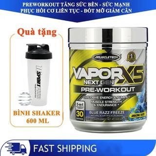 [TẶNG BÌNH] Pre-Workout Vapor X5 của MuscleTech tăng sức mạnh sức bền trước tập 30 lần dùng