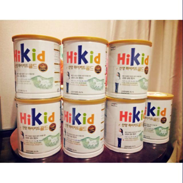 Sữa hikid dê xách tay tiếp viên từ Hàn Quốc. Hàng chính hãng chất lượng giá cả phải chăng. Giúp bé tăng cân và chiều cao