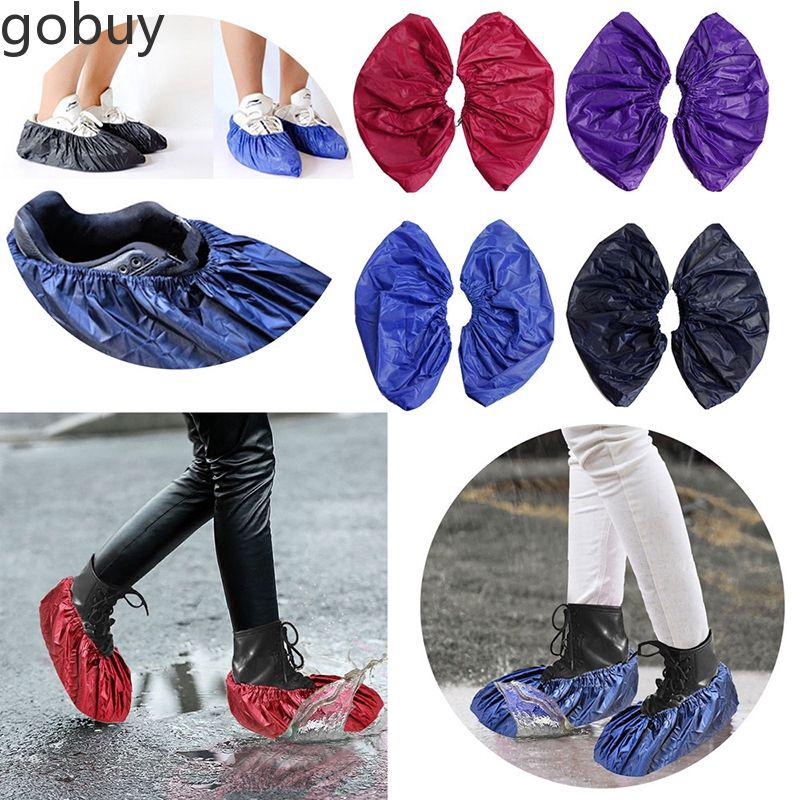 Shoes Cover Reusable Unisex Rain Overshoes Waterproof Anti-slip Boot vn
