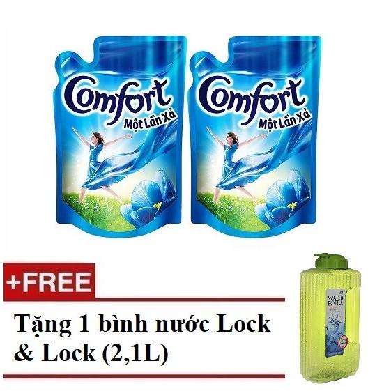 [QUÀ] Bộ 2 Nước xả vải Comfort 1 Lần Xả Hương Ban Mai túi 1.6Lx2 (MSP 67145293x2) + Tặng 1 bình loc