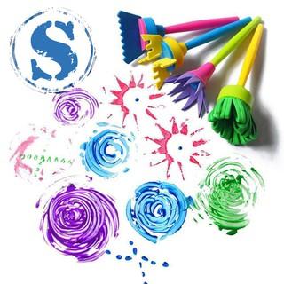 4Pcs/set DIY Sponge Drawing Paint Brushes Graffiti Toys Painting Gift Toys for Children