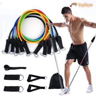 Resistance band set, 11-piece tension band set, up to 150 pounds resistance set TP