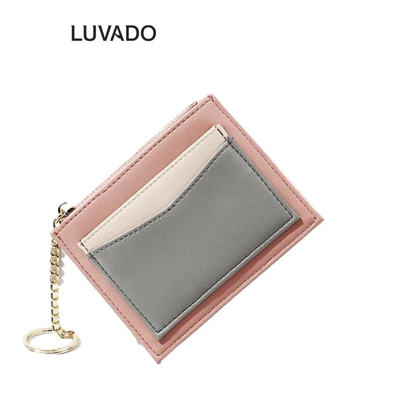 Ví nữ mini cao cấp cầm tay TAOMICMIC đẹp nhỏ gọn bỏ túi đựng tiền LUVADO VD385