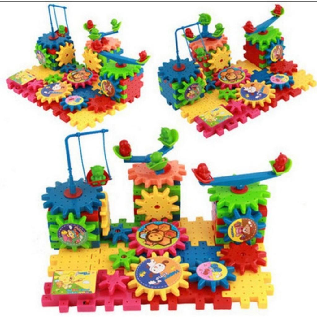 Đồ chơi trẻ em , đồ chơi thông minh, đồ chơi lắp ghép chuyển động phát  triển tư duy sáng tạo 68 bánh răng