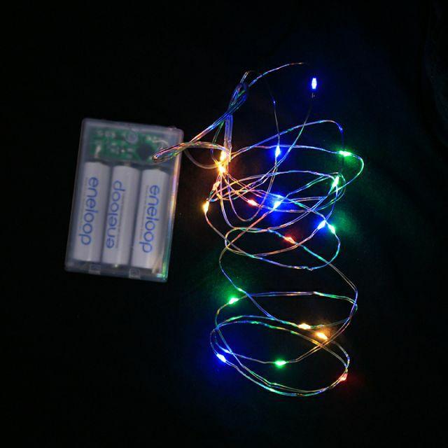 Dây đèn led dùng pin - Đèn đom đóm - Fairy Lights - 2 mét