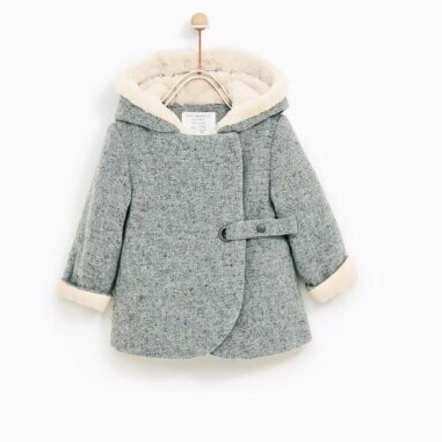 Áo dạ ghi Zara bé gái , mũ và cổ tay lót lông cừu - 2525007 , 756809179 , 322_756809179 , 375000 , Ao-da-ghi-Zara-be-gai-mu-va-co-tay-lot-long-cuu-322_756809179 , shopee.vn , Áo dạ ghi Zara bé gái , mũ và cổ tay lót lông cừu