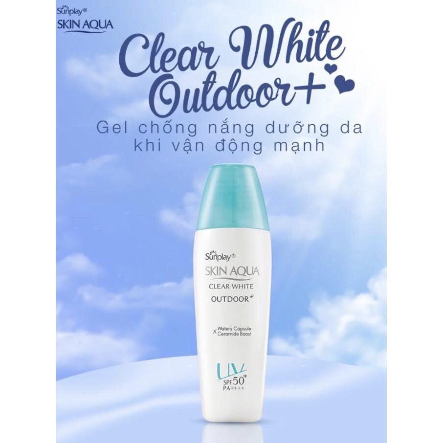 Gel Chống Nắng Dưỡng Da Khi Vận Động Mạnh Sunplay Skin Aqua Clear White  Outdoor+ SPF50+/PA++++ 30g | Shopee Việt Nam