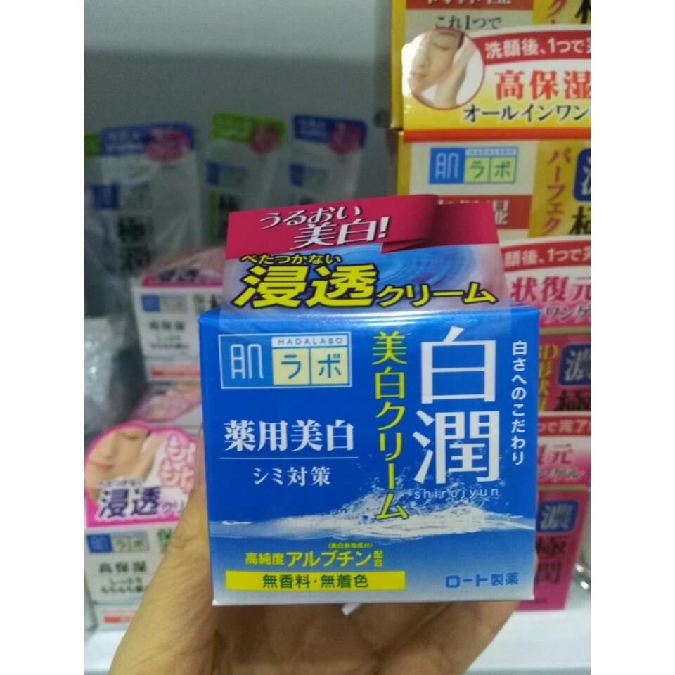 Kem dưỡng trắng HADA LABO Shiro-jyun Cream 50g (Bill mua tại siêu thị Nhật ảnh bên cạnh)