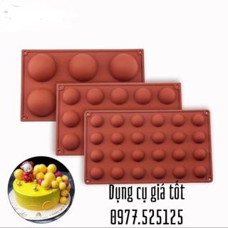 Khuôn Silicon Đổ Socola/Thạch/Đá/Kẹochipchip/Pudding Hình Tròn  Bán Cầu (silicon cao cấp-dày dặn)