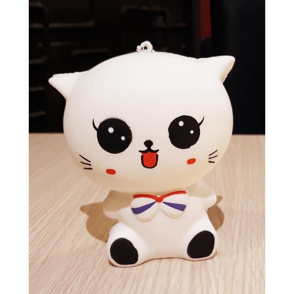 Squishy hình mèo trắng