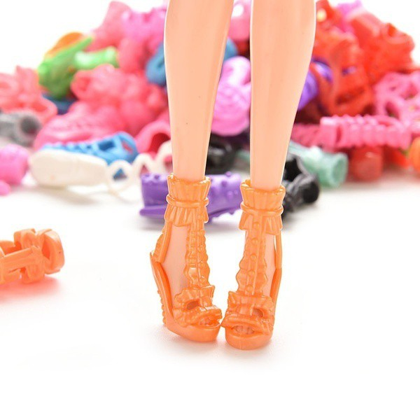15/30/Pairs Fashion Dolls Shoes Toy