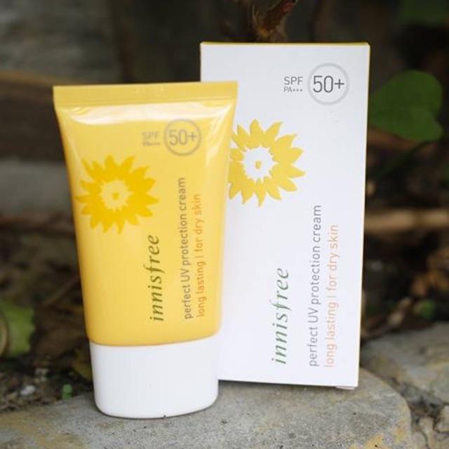 Kem Chống Nắng Cho Da Khô Chống Trôi Perfect UV protection cream long lasting SPF50+ PA+++ for dry s