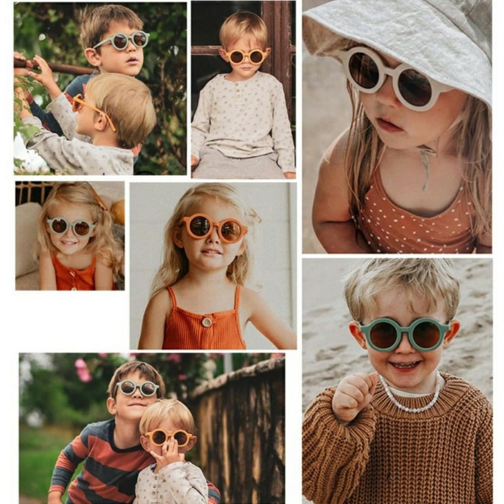 PVN27357 Kính mát màu Pastel cho bé trai bé gái cho bé 2 tuổi- 5 tuổiT2
