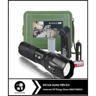 Đèn Pin Siêu Sáng Bóng Led Xml T6 Police Mini 🌈FREESHIP🌈 Cầm Tay Chống Nước Chiếu Xa Đến 500m Trọng Lượng 180g