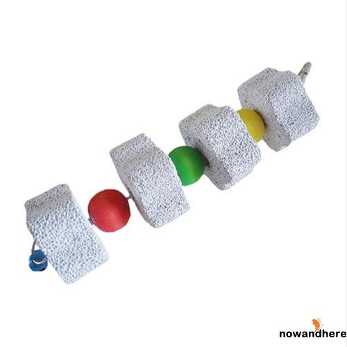 EWV-Pet Bird Hamster Rabbit Chinchilla Teeth Grinding Stone String Chew Toy