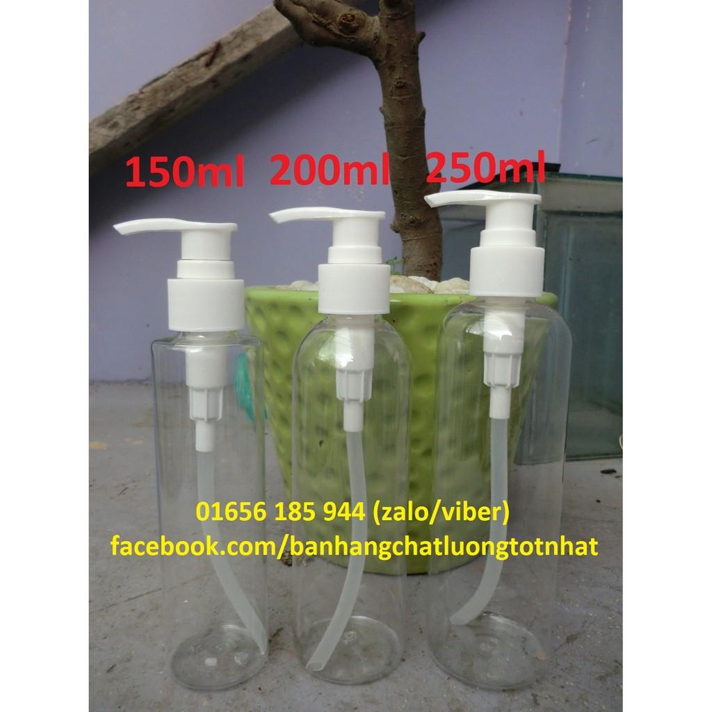 Chai nhựa xịt giọt chiết mỹ phẩm 150-250ml
