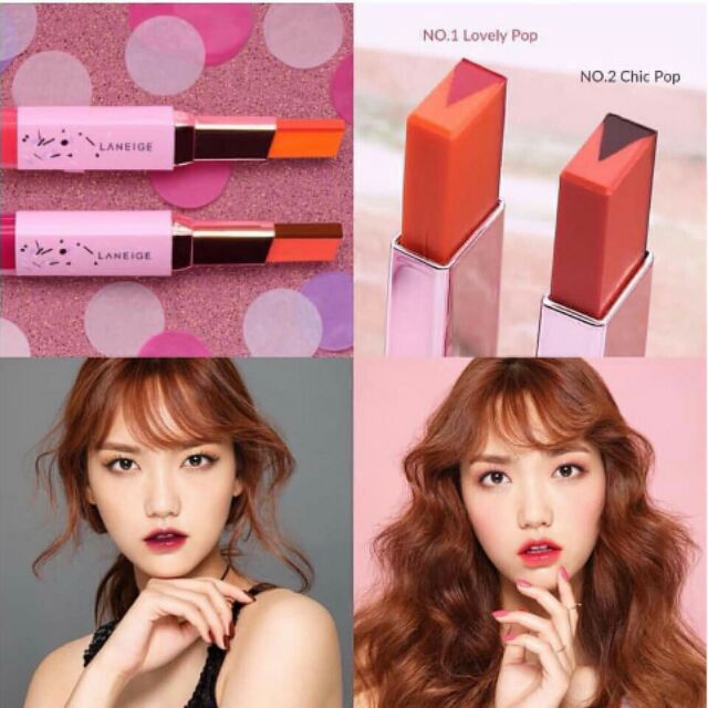 Son Môi Laneige Holiday Two Tone Tint Lip Bar (No. 2 Chic Pop)