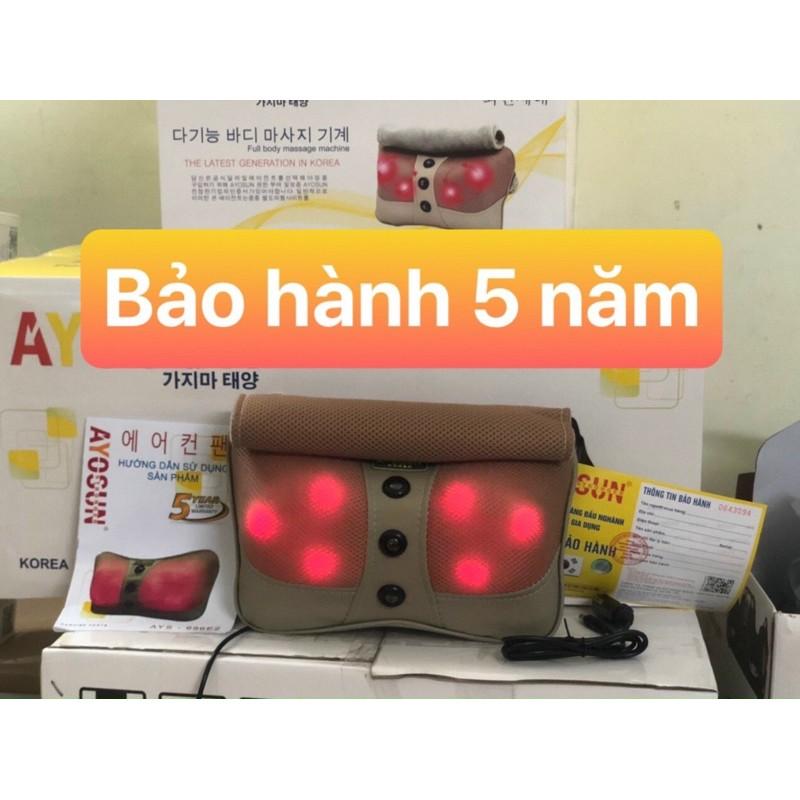 Gối massage Hồng Ngoại 6 Bi Hàn Quốc -MUA 1 TẶNG 1(BAỎ HÀNH 5 NĂM)   Shopee Việt Nam