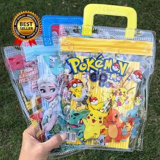 Set túi xách tay xèm bút chì gôm tẩy hoạt hình cho bé trai bé gái đi học thumbnail