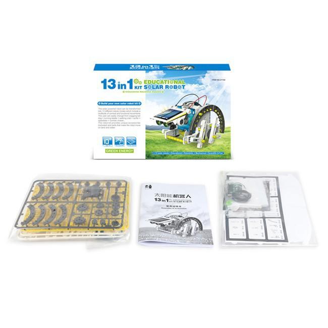 [TL]Bộ lắp ráp năng lượng mặt trời – Robot tương lai 13 in 1 (Educational Solar Robot Kit)(259)