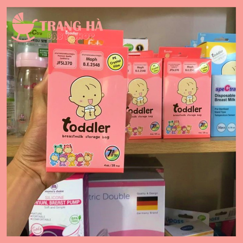 [Mã 267FMCGSALE giảm 8% đơn 500K] Siêu Sale Hộp 30 Túi Trữ Sữa Toddler 3 Khóa Zip Dung Tích 120ml