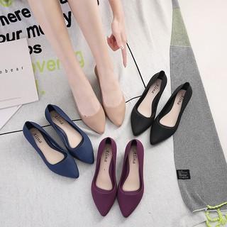 [ Hot ] Giày Búp Bê Mũi Nhọn Nhựa Dẻo G18