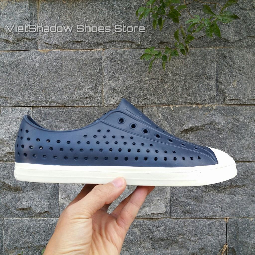 Giày nhựa Native Jefferson - chất nhựa E.V.A siêu nhẹ, không thấm nước - Mã SP: Native-xanh.tím