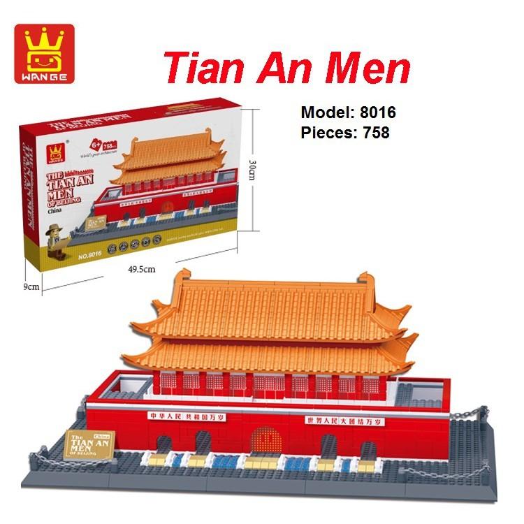 Mô hình Thiên An Môn lego wange 8016