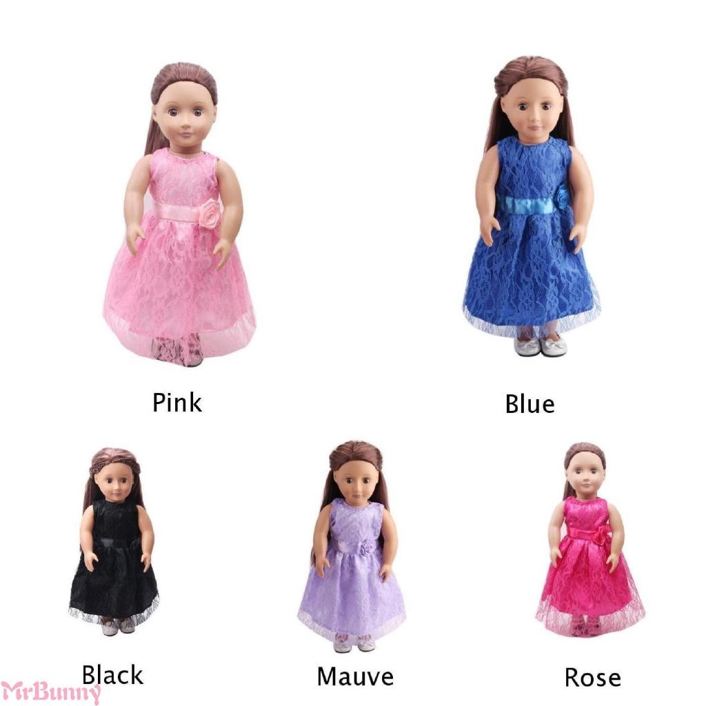 18-inch doll party cute lace princess dress girl's summer dress