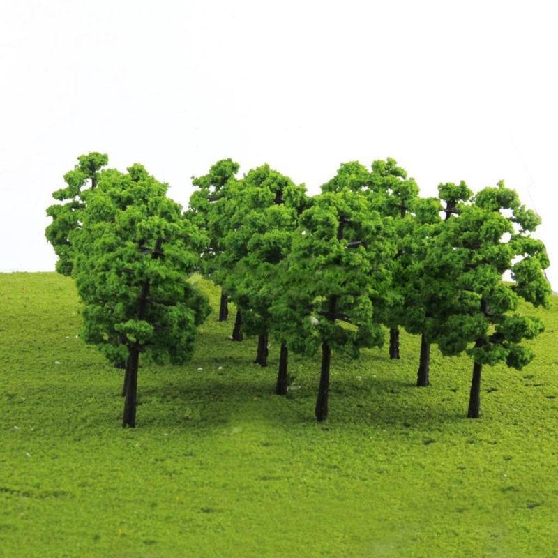 20pcs Model Trees For Train Railroad Diorama Wargame Park Scenery HO Scale Magic