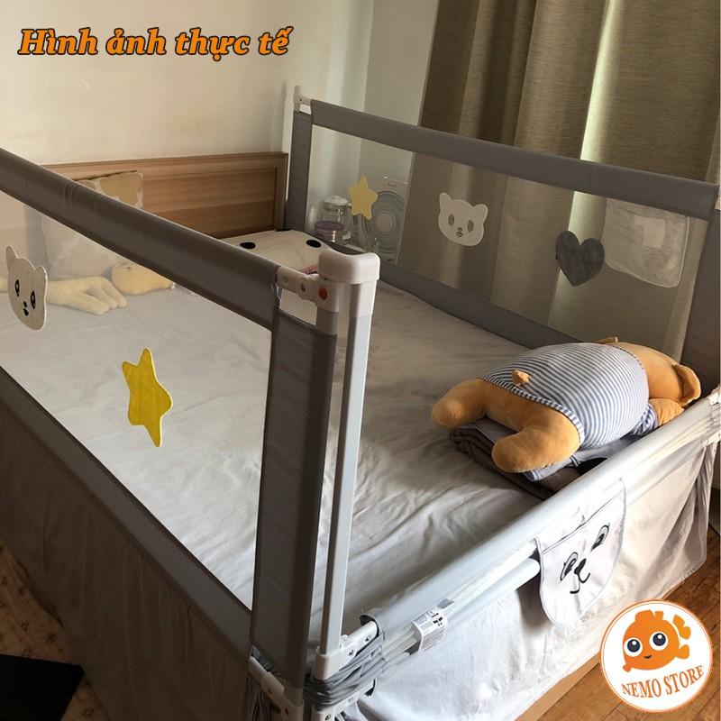 Thanh chắn giường cho bé UMOO BABY SHARK kiêm quây cũi 1m6 1m8 2m 2m2
