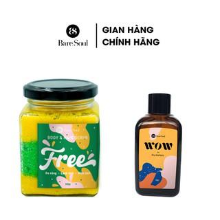 Combo Muối tắm gội BareSoul Free Body & Hair Scrub 300g + Dầu gội đầu khô BareSoul WOW dry shampoo 50g thumbnail
