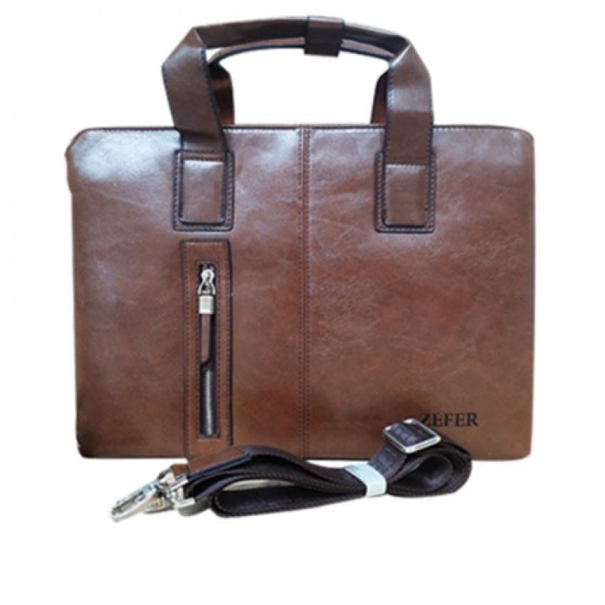 Túi xách công sở xách laptop zefer 999 Nâu Vàng
