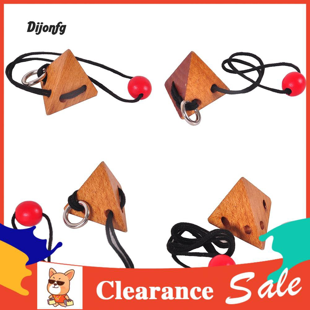 ♑Di 3D Rope String Wood Topology Adults Kids Brain Teaser Puzzle Educational Toys