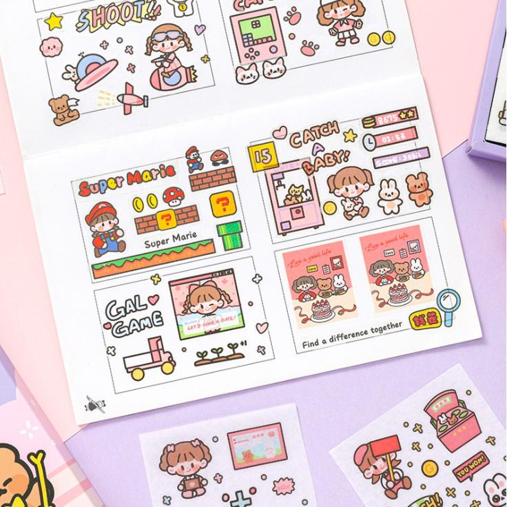 1 Tấm Sticker Mini Dễ Thương Trò Chơi Kì Ảo Game Start Trang Trí Sổ Bullet Journal theboiofficial