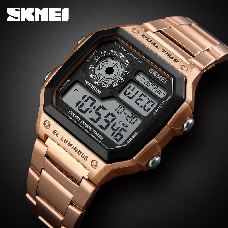 Đồng hồ thể thao nam điện tử cao cấp dây thép Skmei 1335