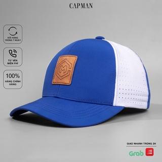 Mũ lưỡi trai chính hãng CAPMAN phom dáng thể thao vải dù màu xanh phối lưới trắng CM137 thumbnail